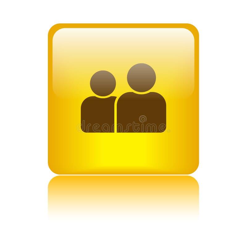 Gebruiker/profiel/pictogramknoop royalty-vrije illustratie