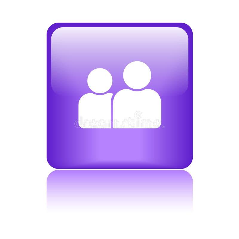 Gebruiker/profiel/pictogramknoop vector illustratie