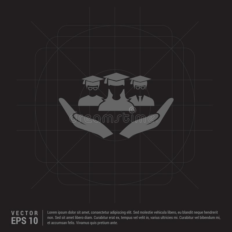 Gebruikers in hand pictogram vector illustratie
