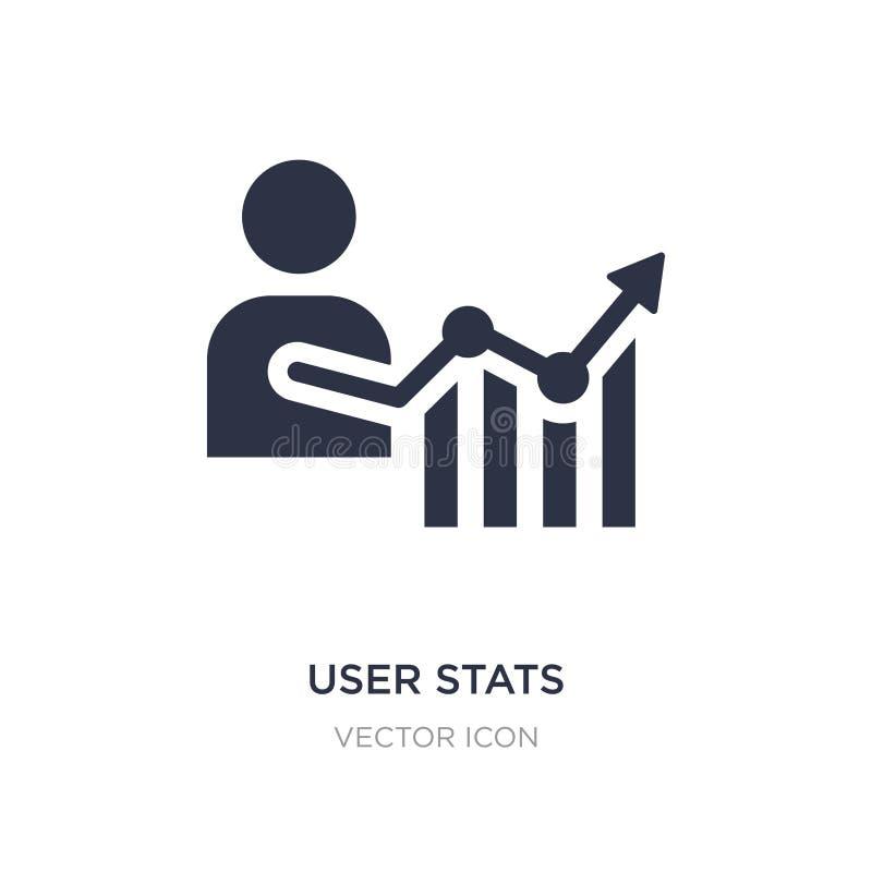 gebruikers stats pictogram op witte achtergrond Eenvoudige elementenillustratie van Bedrijfs en analyticsconcept royalty-vrije illustratie
