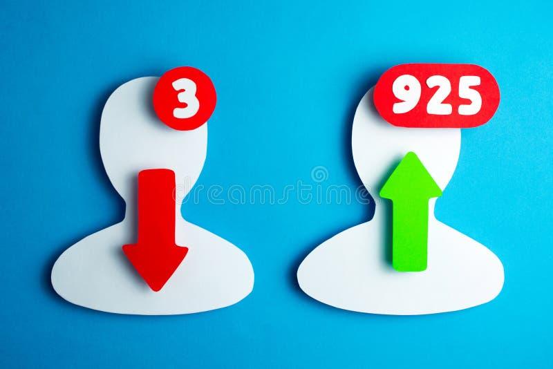 Gebruikers van het sociale netwerken blogging en online overseinen stock afbeelding