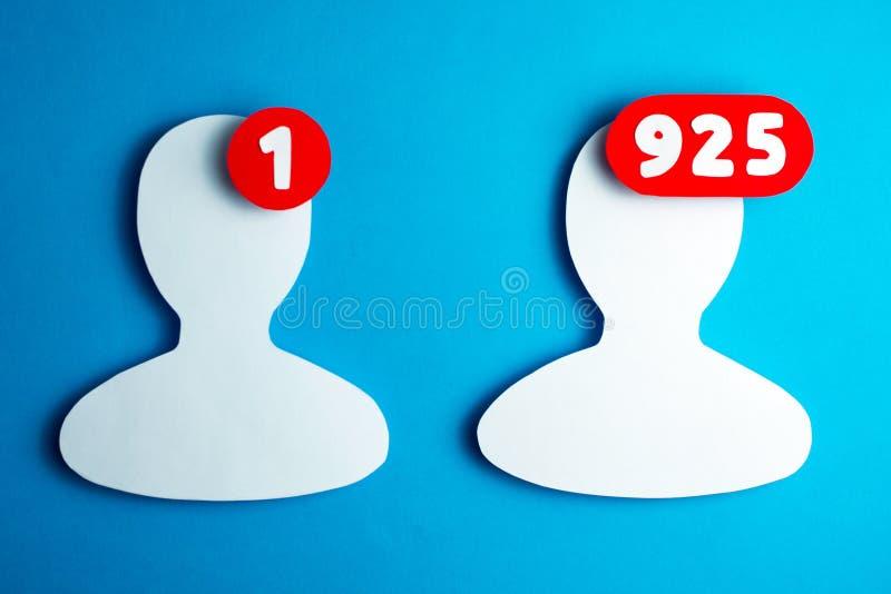 Gebruikers van sociale netwerken stock fotografie
