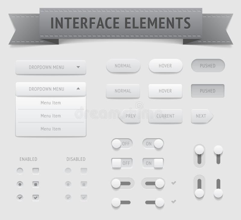 Gebruikersinterfaceelementen vector illustratie