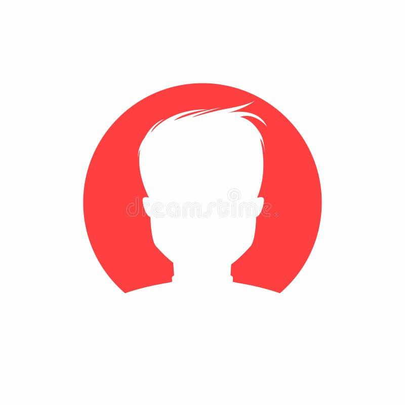 Gebruikerspictogram Eenvoudig mensensilhouet voor app, websiteprofiel, gebruiker - identiteitskaart-pictogram stock illustratie
