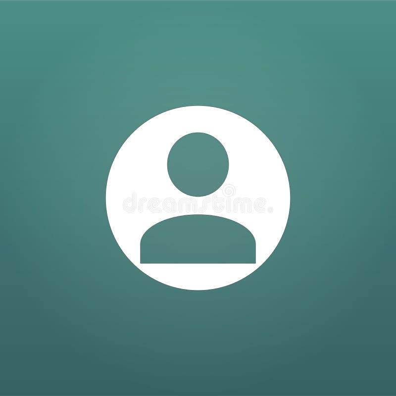 Gebruikerspictogram Menselijk persoonssymbool Avatar login teken Vectordieillustratie op moderne achtergrond wordt geïsoleerd stock illustratie