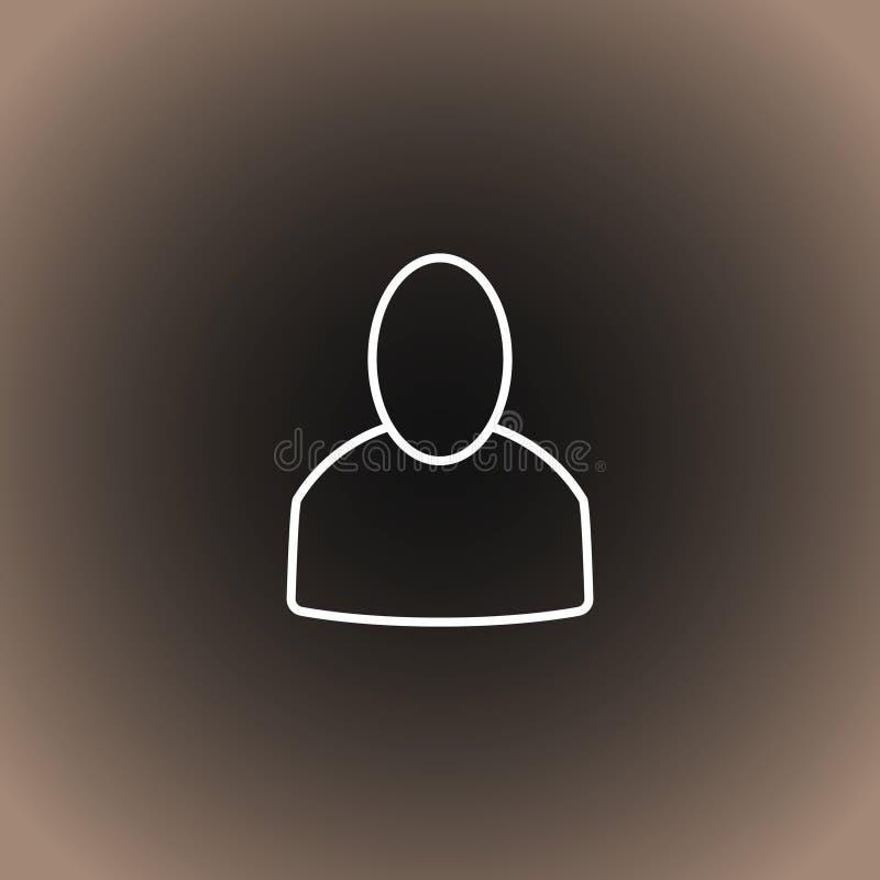 Gebruikerspictogram op zwarte/donkergrijze en beige gradiëntachtergrond vector illustratie