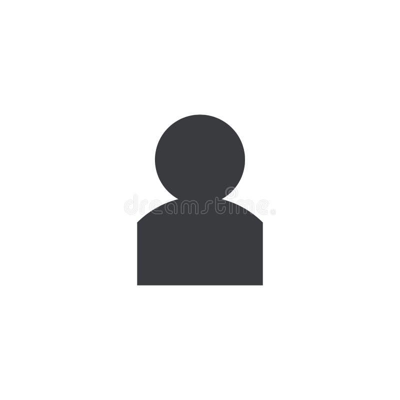 Gebruikerspictogram Vectorpersoonsvorm Element voor ontwerpmobiele toepassing of website Rekeningsteken vector illustratie