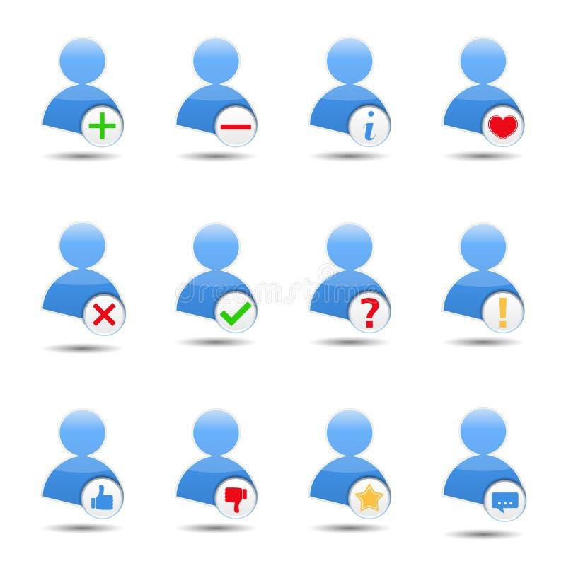 Gebruikerspictogrammen stock illustratie