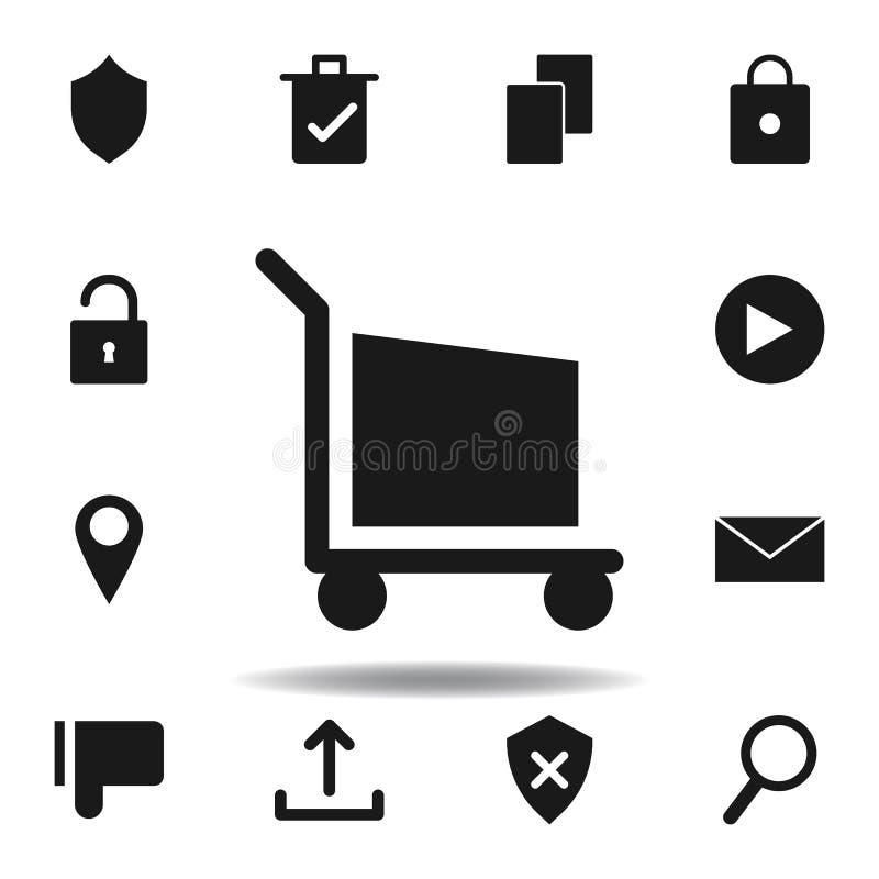 gebruikerswebsite het winkelen pictogram reeks pictogrammen van de Webillustratie de tekens, symbolen kunnen voor Web, embleem, m stock illustratie