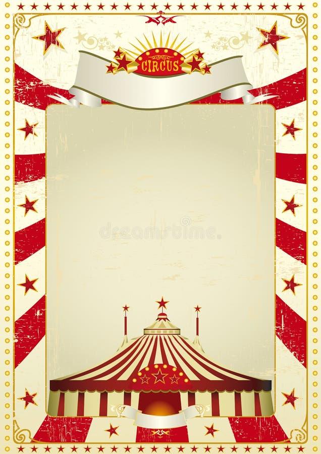 Gebruikt affichecircus royalty-vrije illustratie