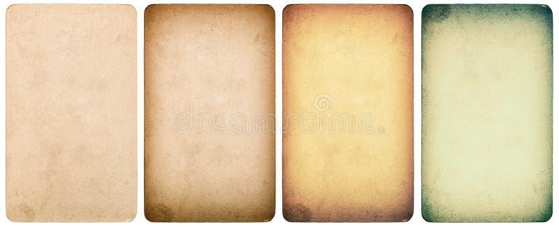 Gebruikt geweven document geïsoleerd karton Instagramstijl royalty-vrije stock foto's