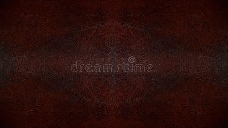 Gebruikte Donkere Bruine van het Leer Naadloze Patroon Textuur Als achtergrond voor Meubilairmateriaal royalty-vrije stock foto's