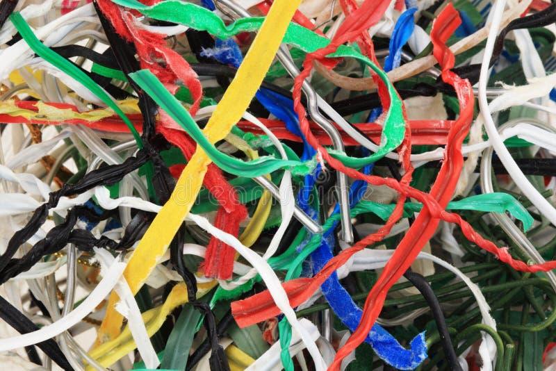 Gebruikte draaibanden stock foto