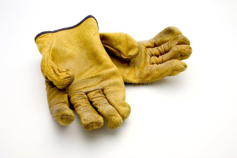 Gebruikte handschoenen stock afbeelding