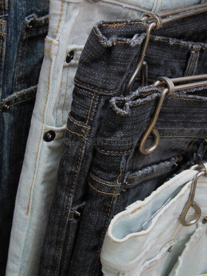 Gebruikte jeans royalty-vrije stock fotografie