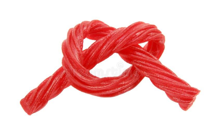 Gebundene rote Rebe-Süßigkeit stockfoto