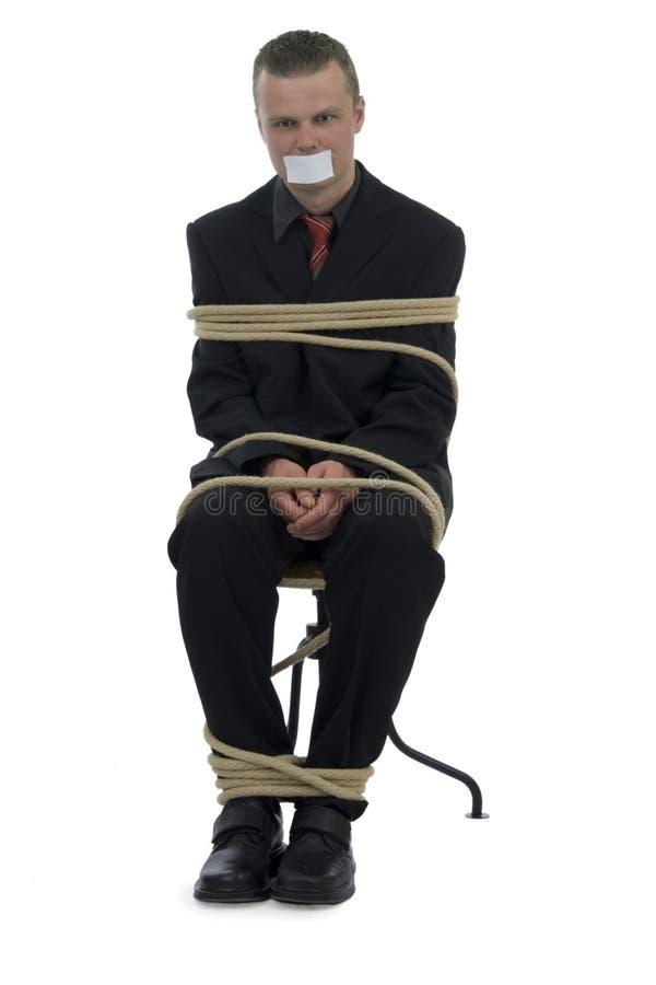 Gebundener Geschäftsmann stockfotos