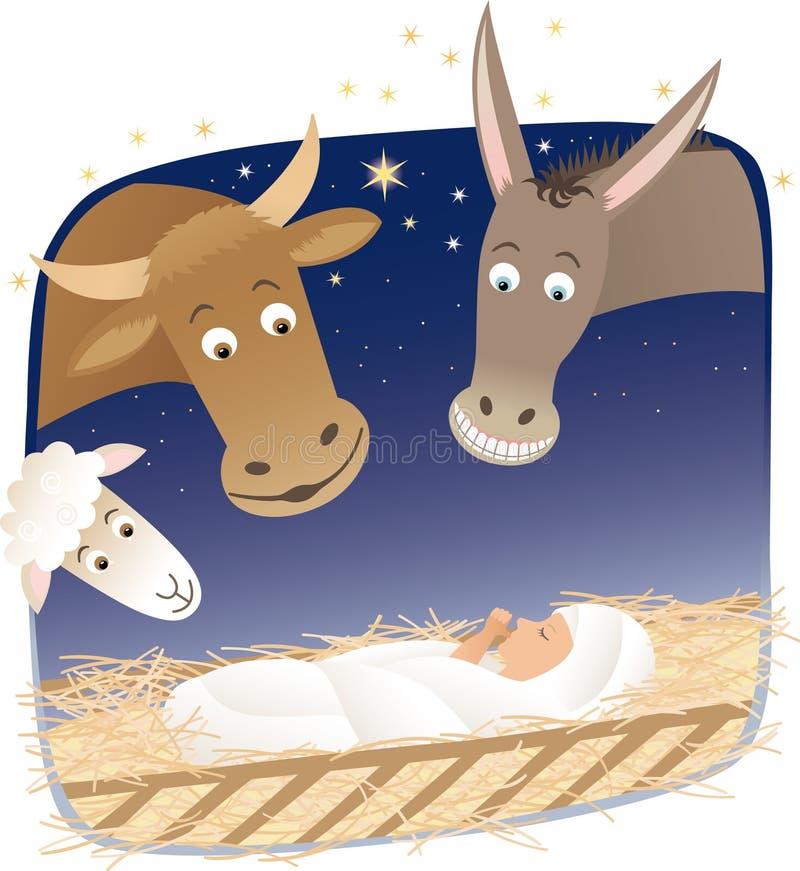 Geburt Christi lizenzfreie abbildung