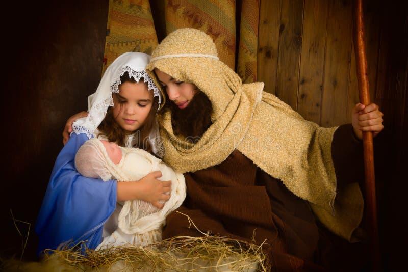 Geburt Christi der Heiligen Nacht lizenzfreies stockfoto