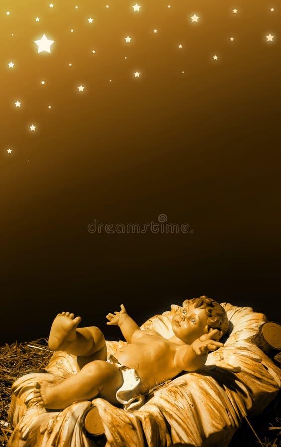 Geburt Christi - Schätzchen Jesus lizenzfreie stockfotografie