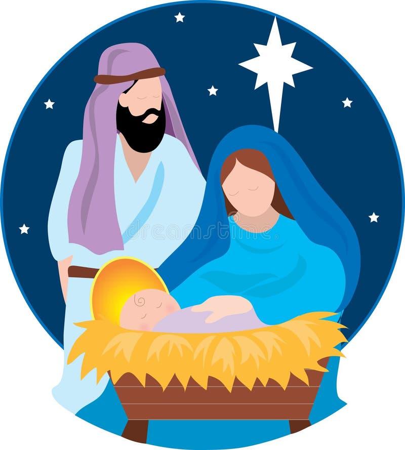 Geburt Christi-Szene lizenzfreie abbildung