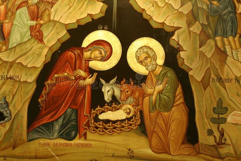 Geburt Christikirche stockfotos