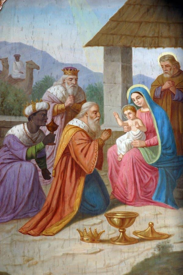 Geburt Christis-Szene stockfoto
