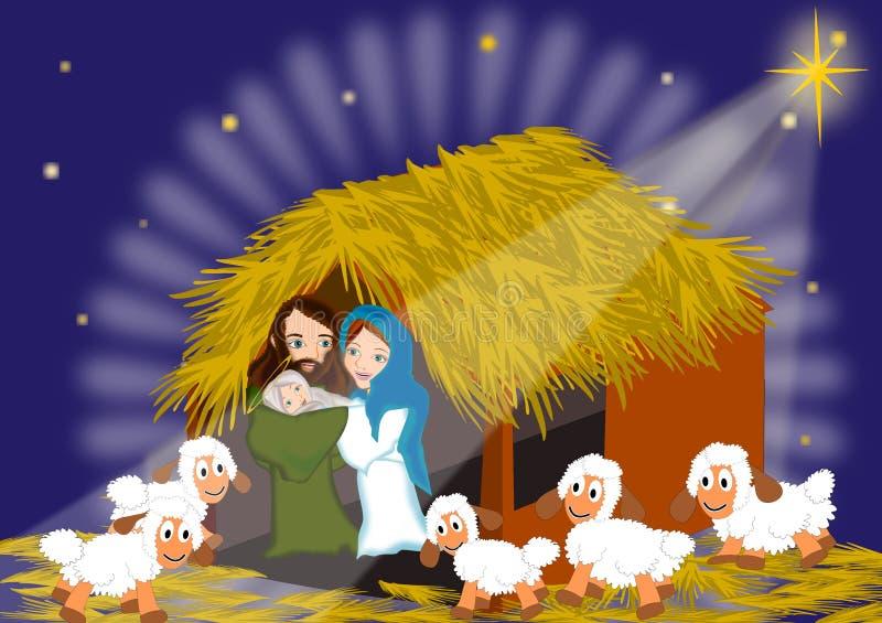 Geburt Christis-Weihnachten lizenzfreie abbildung