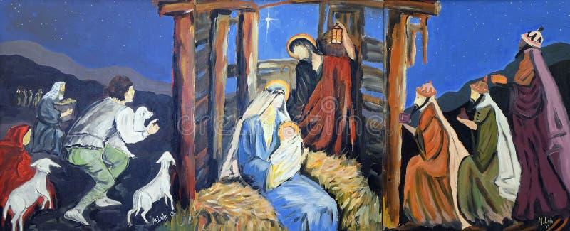 Geburt Christiszene lizenzfreie stockfotografie