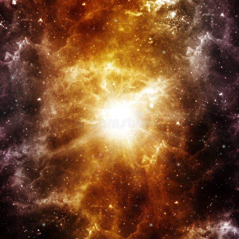 Geburt eines Sternes stock abbildung