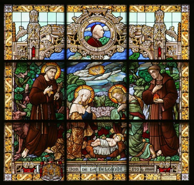 Geburt von Jesus lizenzfreies stockbild