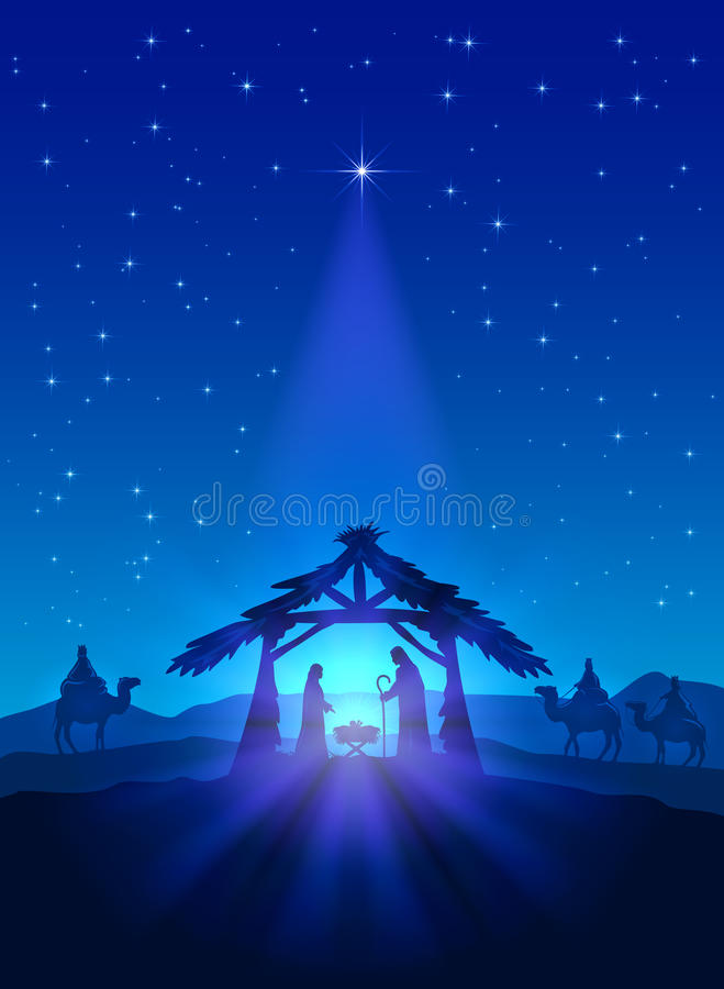Geburt von Jesus lizenzfreie abbildung