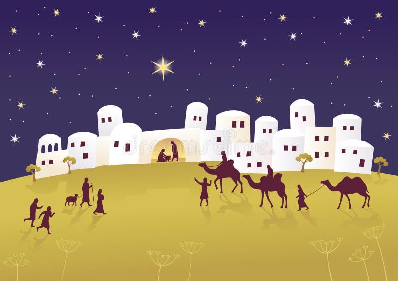 Geburt von Messiah lizenzfreie abbildung