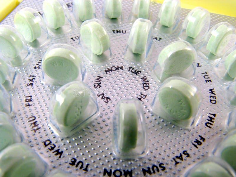 Geburtenkontrolle-Pillen lizenzfreie stockbilder