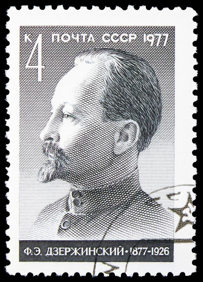 Geburts-Jahrhundert von F e Dzerzhinsky, Geburts-Jahrhunderte serie, circa 1977 lizenzfreie stockbilder