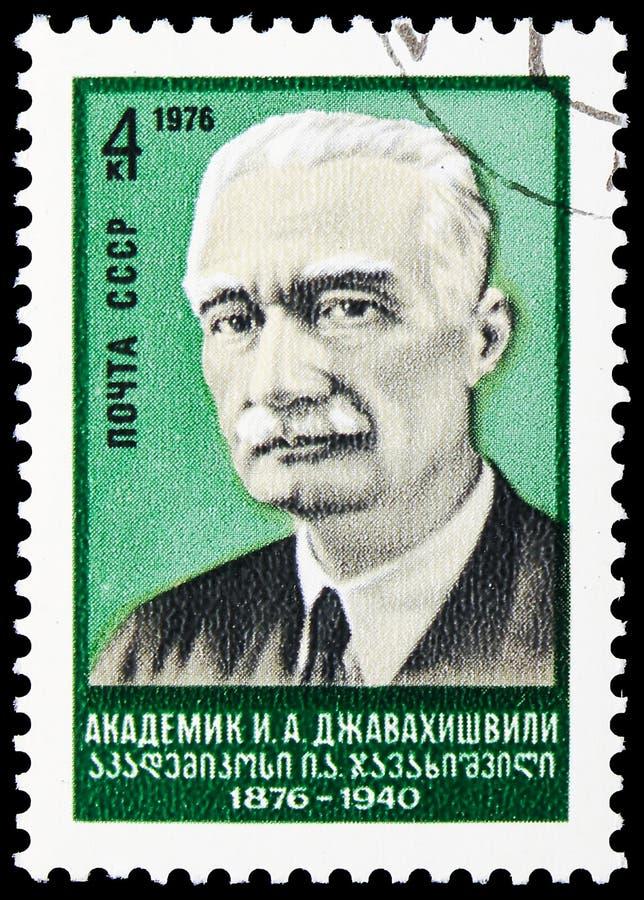 Geburts-Jahrhundert von I A Dzhavakhishvili, sowjetisches Wissenschaftler serie, circa 1976 stockbilder