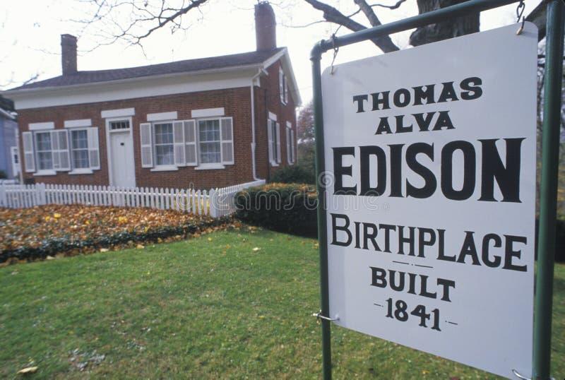 Geburtsort des Thomas- Edisonmuseums lizenzfreie stockfotos