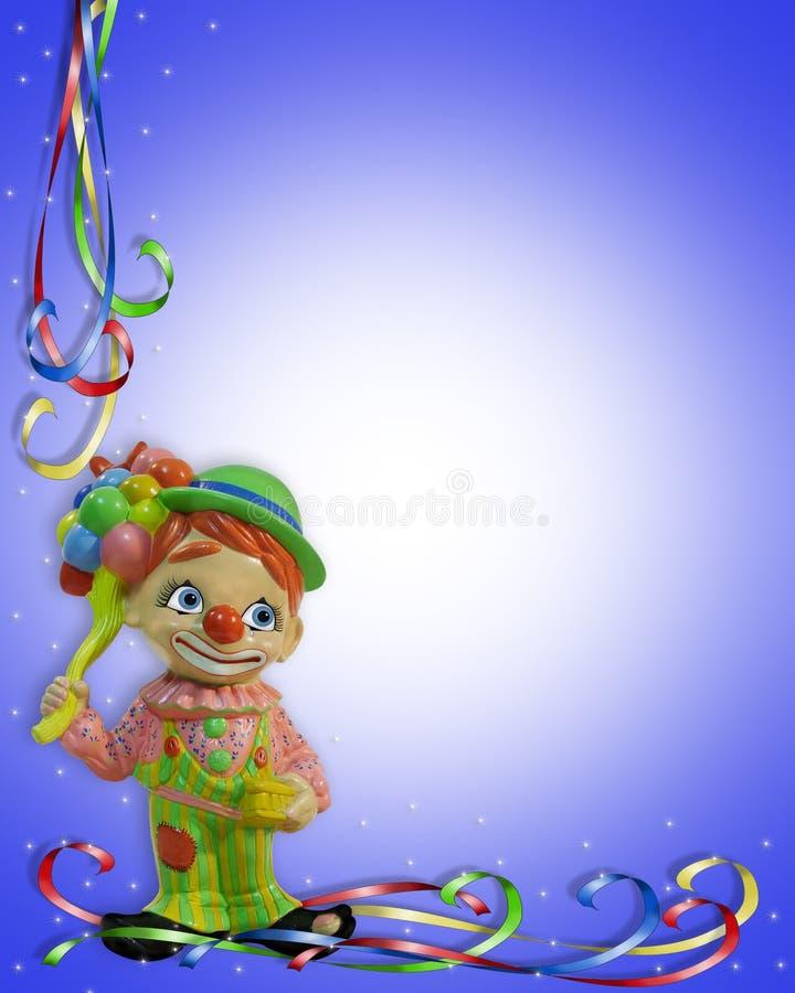 Geburtstag-Einladungs-Clownkind vektor abbildung