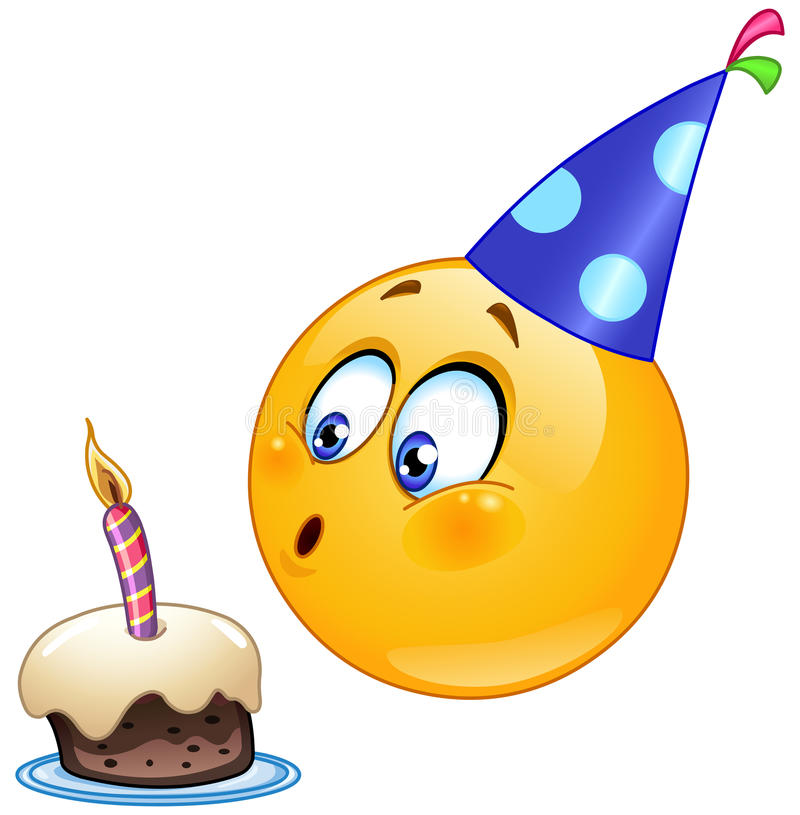 Geburtstag Emoticon stock abbildung