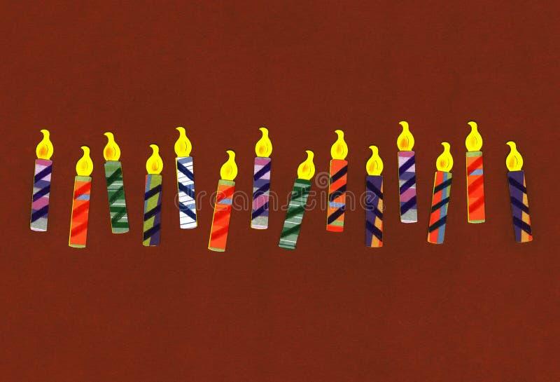 Geburtstag-Feier-Kerzen stockfotos