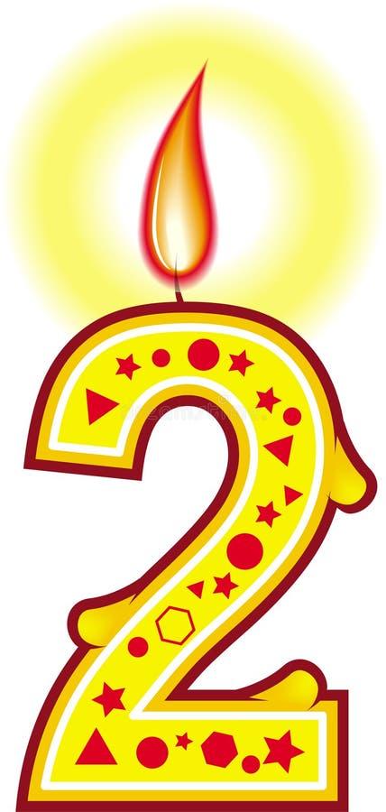 Geburtstag-Kerze 2 vektor abbildung
