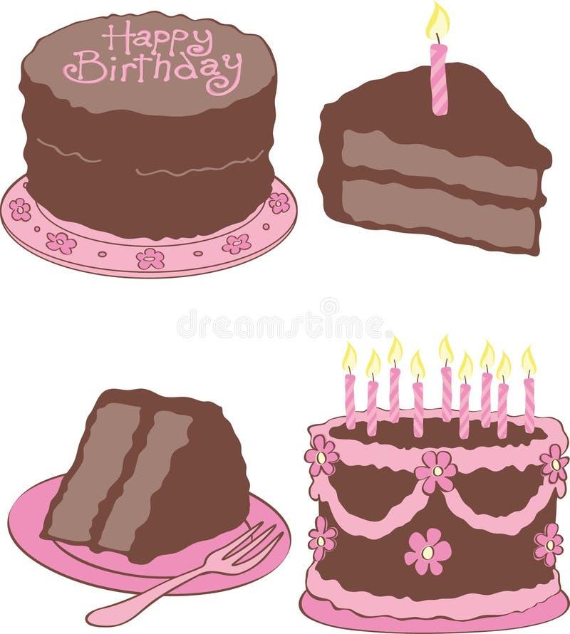 Download Geburtstag-Kuchen vektor abbildung. Illustration von karikatur - 27730213