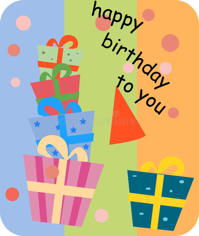 Geburtstagkarte stock abbildung