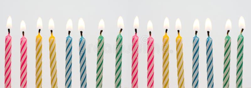 Geburtstagkerzefahne lizenzfreie stockbilder