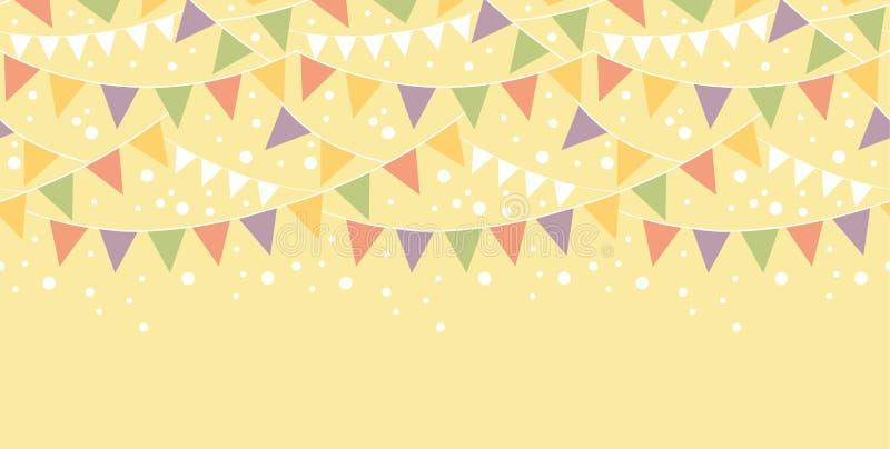 Geburtstags-Dekorationen, die horizontales nahtloses mit dem Kopfe stoßen lizenzfreie abbildung