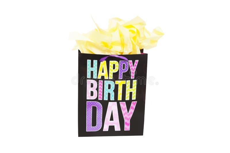 Geburtstags-Geschenk-Tasche stockbilder
