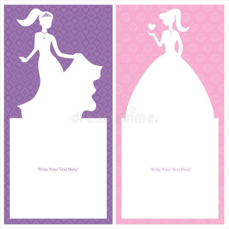 Geburtstags-Prinzessinkartendesign vektor abbildung