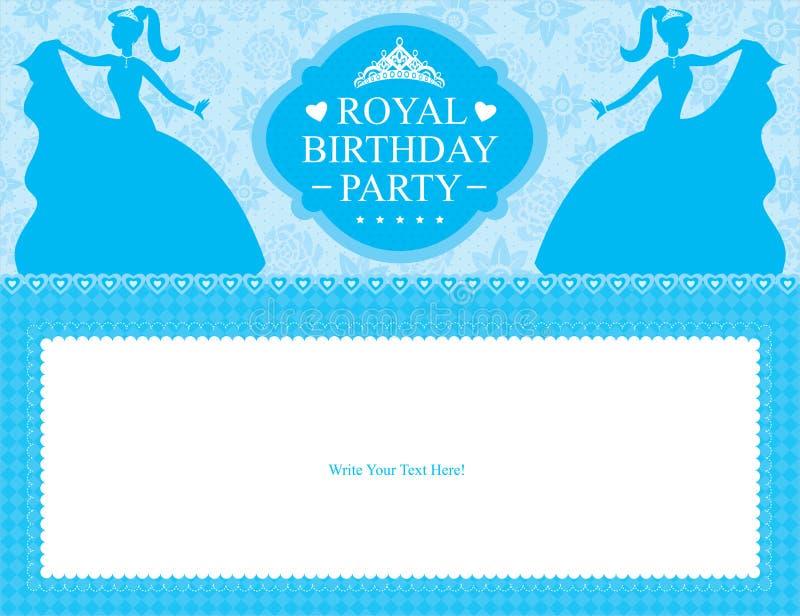 Geburtstags-Prinzessinkartendesign stock abbildung