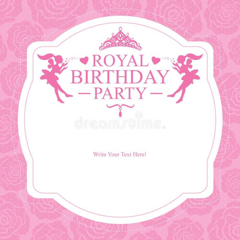 Geburtstags-Prinzessinkartendesign lizenzfreie abbildung