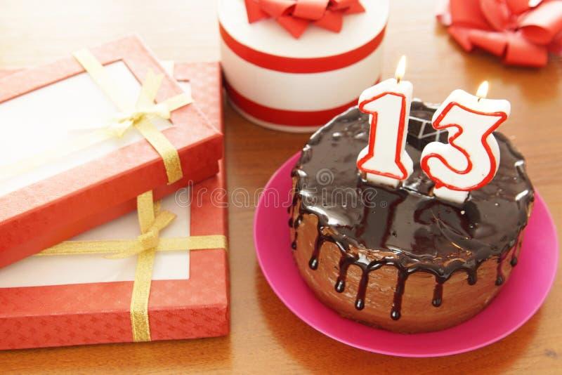 Geburtstagsfeier bei dreizehn Jahren stockbild